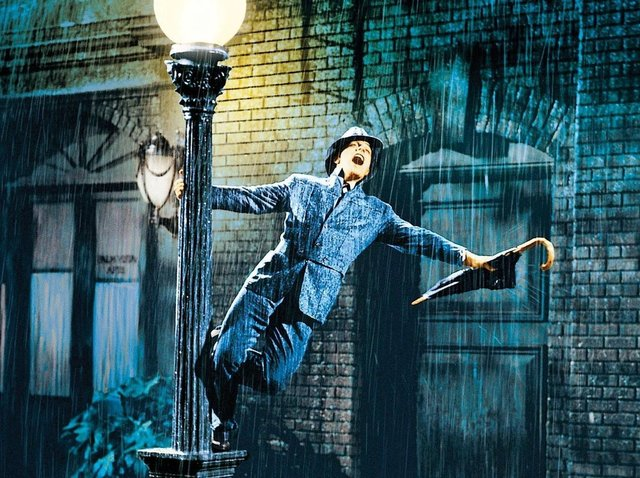 The most famous scene from Singing in the Rain