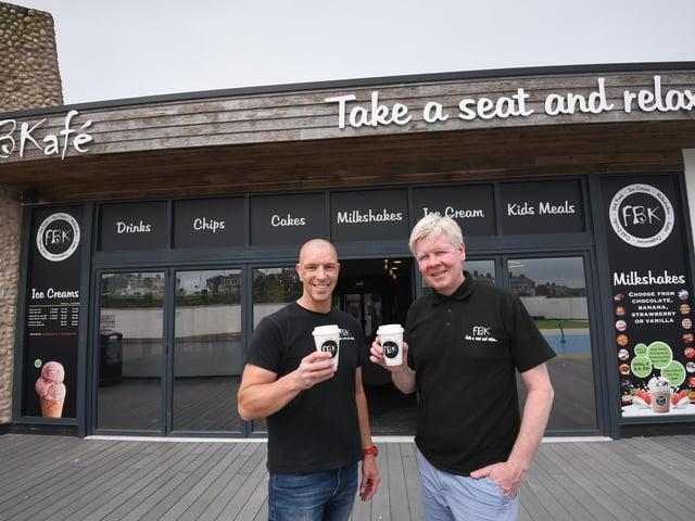 Paul Haslam (left) and Craig McOmish outside their new establishment