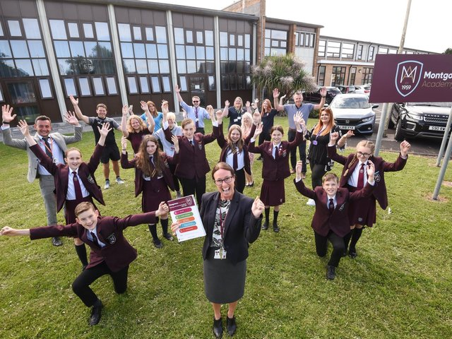 Montgomery Academy pupils have used their achievements for good in the form of donations made to local charities. Picture: Daniel Martino/JPI Media