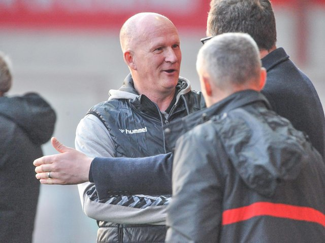 Fleetwood Town head coach Simon Grayson and his players will meet Leeds United in pre-season Picture: Stephen Buckley/PRiME Media Images Limited