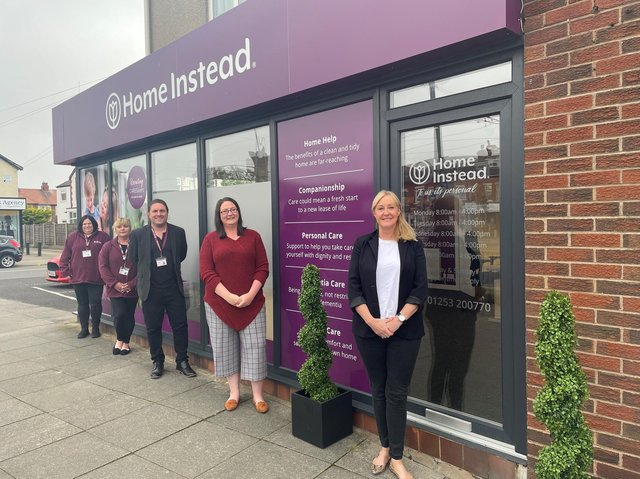 Home Instead Blackpool and Wyre has moved to a new HQ in Cleveleys, on the corner of York and Brighton Avenue. Pictured are Kerry Vowels, Karen Peacock, Andy Keegan, Billie Colclough and Tara Mcphee.