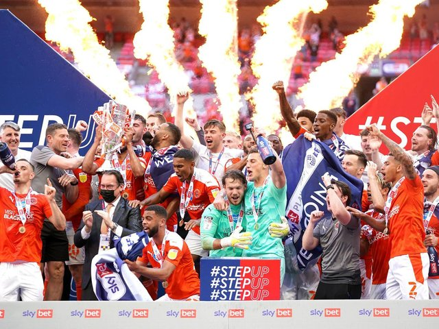 Blackpool's last game was the play-off final win at Wembley