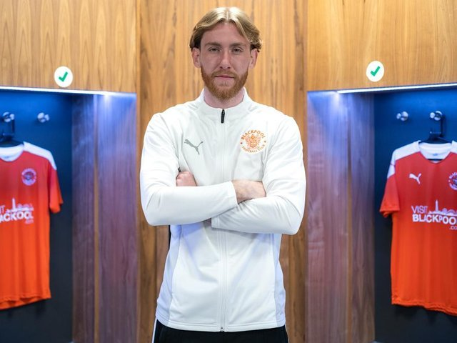 Josh Bowler has completed his move to Blackpool Picture: Blackpool FC