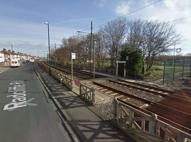 A child was hit by a tram near the Heathfield Road tram stop. (Credit: Google)