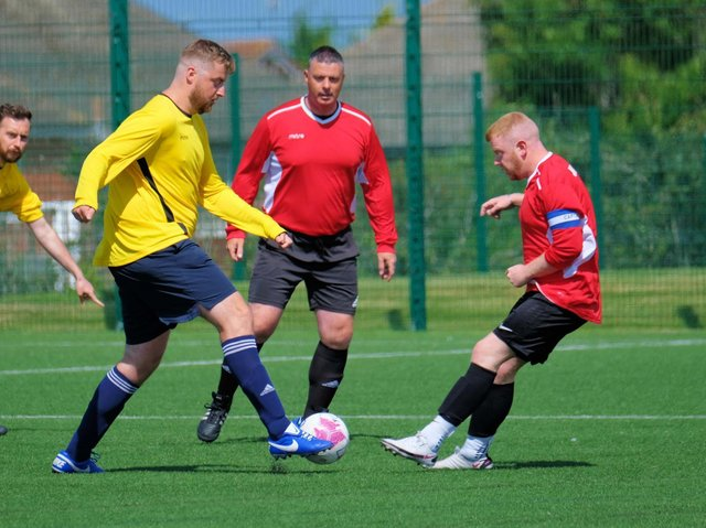 The 'Not Match Fit' charity game in memory of Jordan Banks. Picture by Martin Bostock