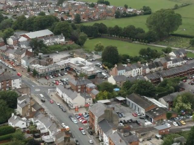 Kirkham town centre aerial view