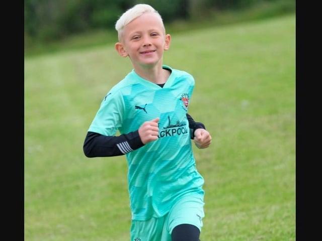 Finley Hughes ran nine miles in memory of Jordan - one mile for each year of his schoolmate's life