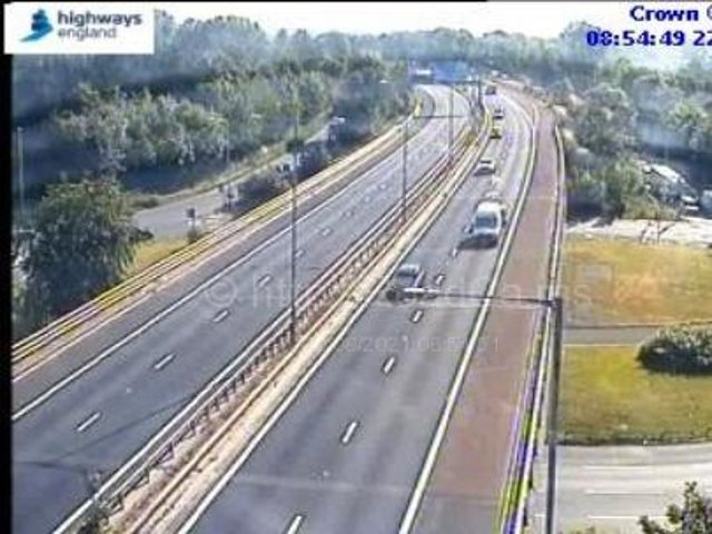 The eastbound M55 has been shut between junctions 3 (Kirkham, A585 Fleetwood Road) and 1 (Preston) whilst police and ambulance crews work at the scene