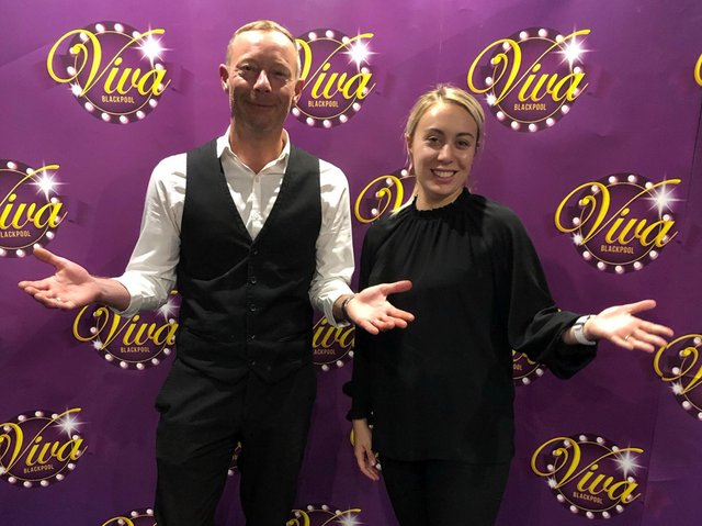 Operations manager at Viva Blackpool, Paul Stevens, with HR boss Natalie Gray (Picture: Viva Blackpool)