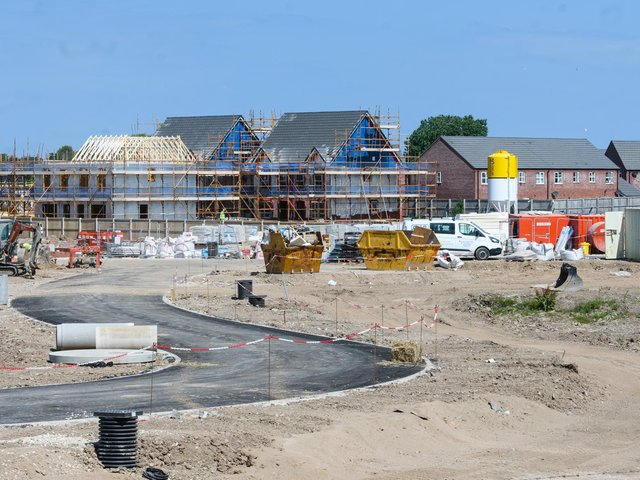 The building site in St Annes