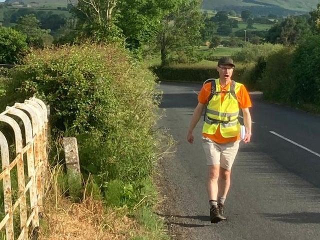 Philip North on his trek on Friday