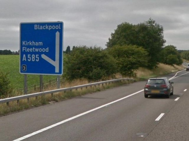 Two people were taken to hospital after a crash on the M55 eastbound at around 9.30am this morning (Wednesday, June 23)