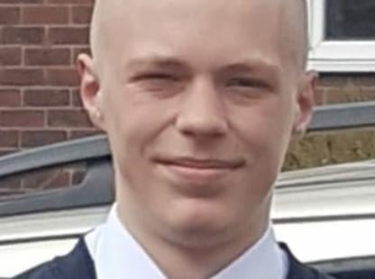 Charlie James (pictured) is described as a white male, 5ft 5ins tall, of slim build with a shaved head. (Credit: Lancashire Police)