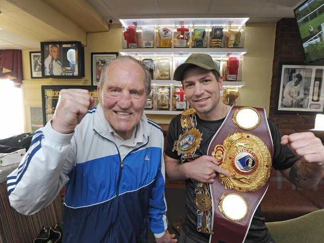 Blackpool's last two British champions and world title challengers Brian London and Brian Rose, who described London as his inspiration