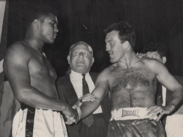 Muhammad Ali with Brian London in in 1966