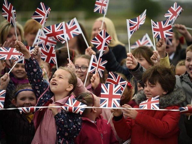 One Britain One Nation 2021: Blackpool school leaders say they won't be participating in OBON Day tomorrow - because they were not told about it soon enough by the Department of Education, and singing restrictions still aren't lifted in schools. (Photo by Jeff J Mitchell/Getty Images)