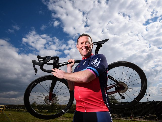Gary Apps is tacking the challenge in France in memory of a former colleague