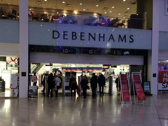 The Debenhams store closed in May