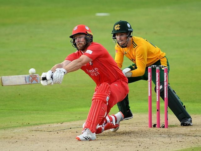 Steven Croft did his utmost to keep Lancashire moving at Northamptonshire