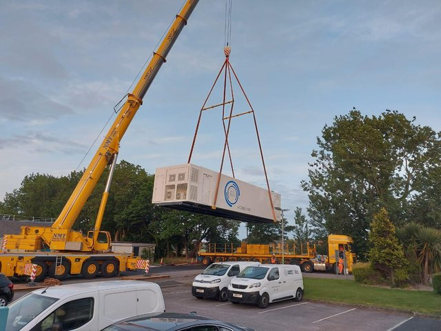 Spire Fylde Coast Hospital has a new, state-of-art MRI scanner, which will speed up diagnoses for patients with cancer and other diseases. The unit had to be craned in with specialist equipment