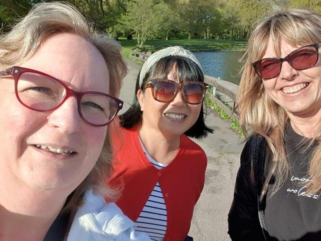 Keri Lomax, Jo Bryan, Jo Welsh were among twenty-five staff members from Atos who took on a charity walking challenge