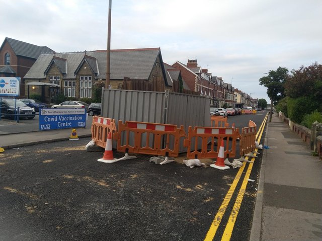 The sewer collapse in St Albans Road, St Annes
