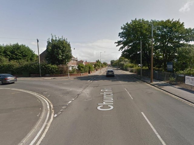 A cyclist was involved in a collision with a car at the junction of Smithy Lane, Albany Road and Church Road. (Credit: Google)
