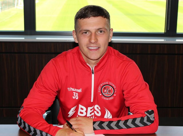 Carl Johnston has penned a new deal with Fleetwood Town. Credit: FTFC