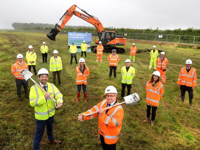 Local leaders met to celebrate the start of the M55 link road works