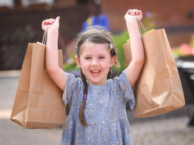 Ella Anderton, four, is raising money for Brian House Children's Hospice by selling goody bags for youngsters. Photo: Daniel Martino/JPI Media