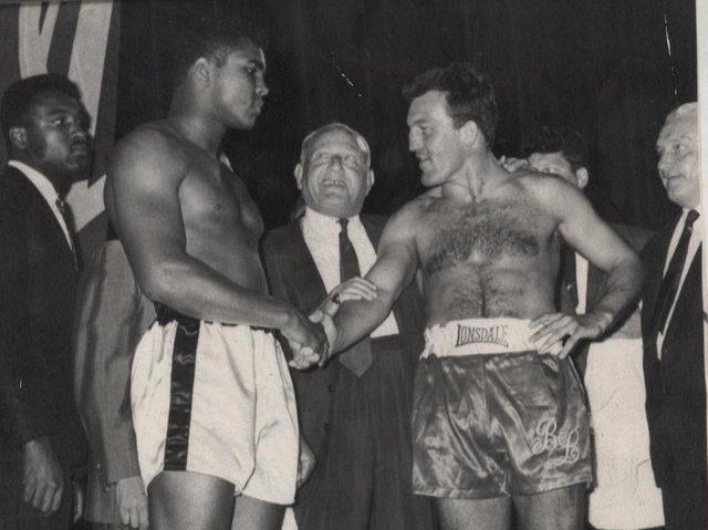 Brian with boxing legend Muhammed Ali in 1966