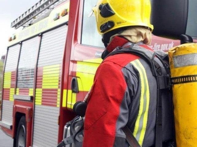Three fire engines from Blackpool and South Shore rushed to the scene in Patterdale Avenue.