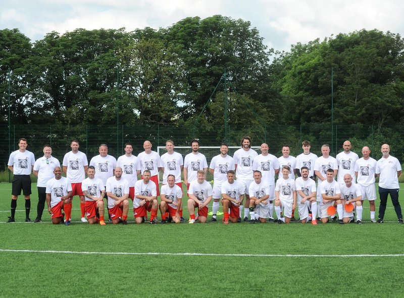 Ex-professionals, friends and family took part in a charity football match in memory of Jordan Banks, nine.