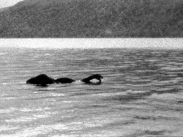 A photo appearing to show the Loch Ness Monster, taken by Frank Searle