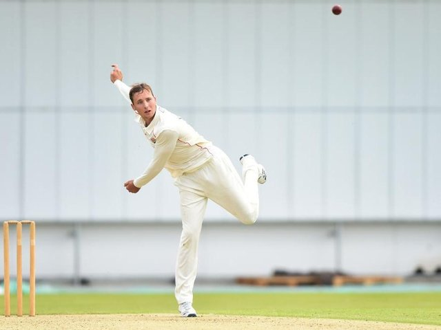 Tom Hartley recorded his best first-class bowling figures against Kent