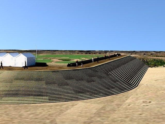 An artist's impression of the southern end of the proposed new St Annes sea defences. Pictures: Fylde Council.