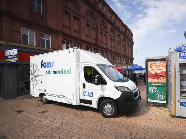 The vaccine van is back in Blackpool this week