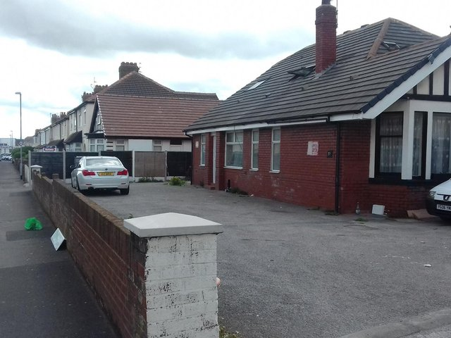 The site of the planned nursing home on Coronation Road in Cleveleys