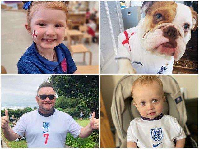 England football fans in the Fylde coast have wished the national team good luck ahead of Sunday's Euro 2020 final.