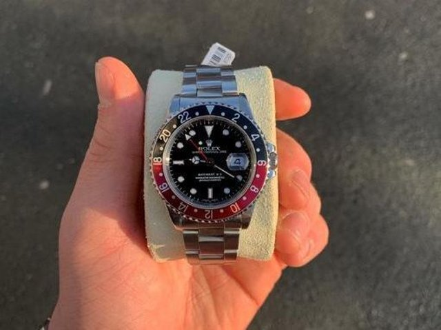 Police are asking the public to keep their eyes open for the distinctive Rolex watch. (Credit: Lancashire Police)