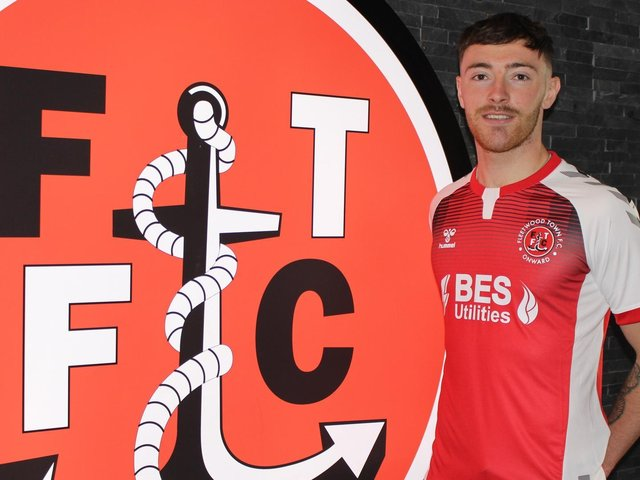 Ryan Edmondson joined Fleetwood Town on loan from Leeds United last month Picture: Fleetwood Town