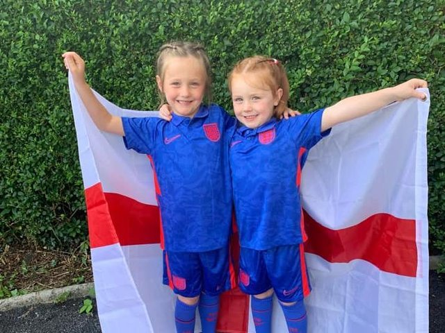 Amelia and Sophia looking forward to the match
