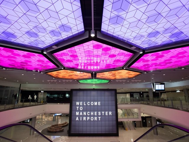 The new-look Terminal 2 at Manchester Airport