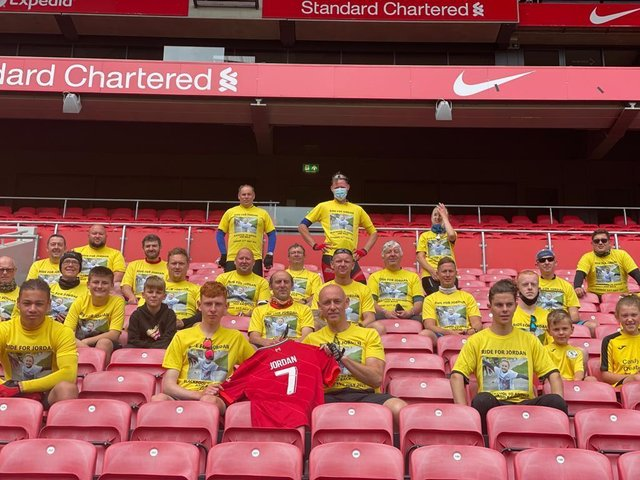 32 youngsters and adults from two resort football teams cycled 90 miles on Sunday to raise money for Jordan Banks' family in his memory. Pic: Jonathan Barratt.