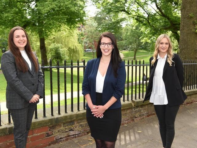 Three new faces at Harrison Drury in Preston. Jessica Woodman, Janka Ballo and Paulina Grysakowska