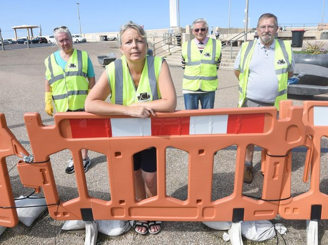 Care for Cleveleys has attached poems to temporary railings - which have been in place for over a year - to try to get them replaced in Cleveleys. Pic: Dan Martino/JPI Media