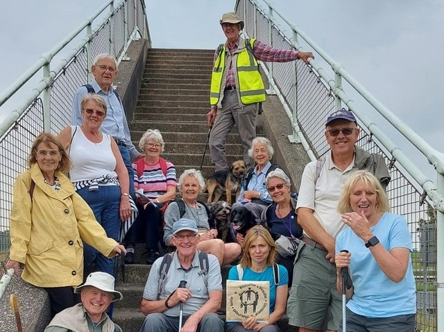 Some of the Fellside Team Ministry area pilgrims are pictured during a break while rambling between parishes.