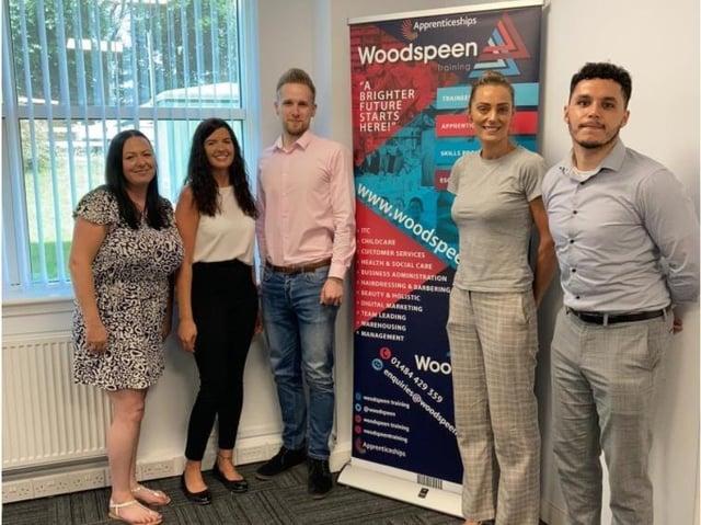 Woodspeen Training has opened its first Fylde coast office. From left: Cath Heyes, Kim Morrison, Bartosz Borowski, Andrea Swales, Jordan Peel