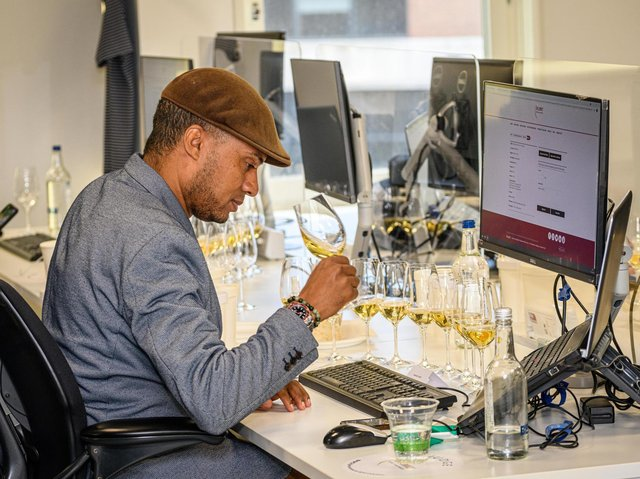 Judging taking place at the 2021 Decanter World Wine Awards. Photo credit: Nic Crilly-Hargrave and Decanter