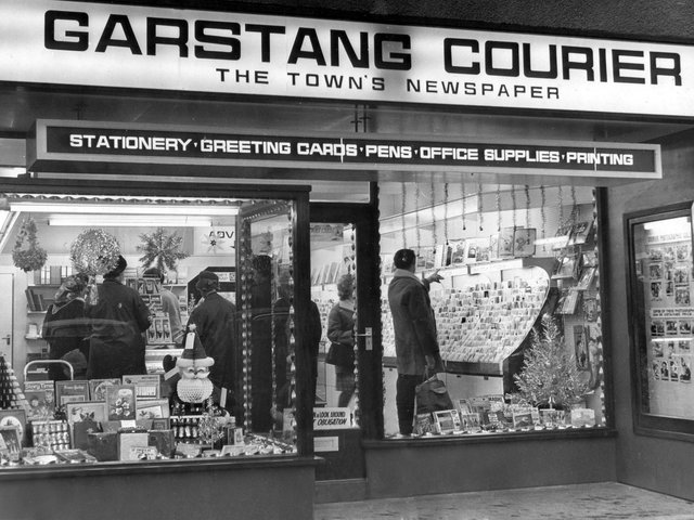 Garstang Courier office in Church Street, Garstang, in the 1980s